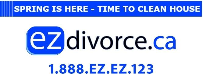 Spring is here. Time to clean house. ezDivorce.ca